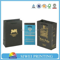 promotional good looking black gift bag for wine