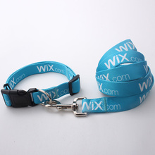 Manufacturers selling 100% polyester pet collar and leash with logo