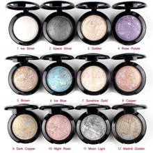Eye shadow Palette in Shimmer Metallic By UBUB 12 Colors Baked Eyeshadow