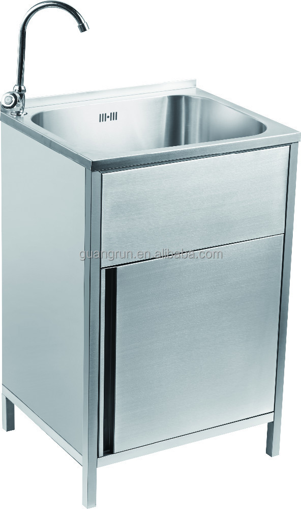 Steel Laundry Tub Cabinet With Drawer Gr-x003 - Buy Stainless Steel ...