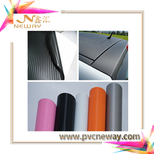 easy install removable carbon fiber film with air bubble free/stretchable pvc film for car color changed