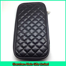 Factory custom cheap black pu cosmetic bag clutch for eyeliner or eyebrow pencil
