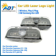 Hot selling Welcome Projector Logo Ghost Shadow Door light for Porsche for Boxster Cayman