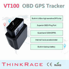 Fast Position Motor GPS Locator VT100 With Car Alarm System OBD/OBD2 by Thinkrace