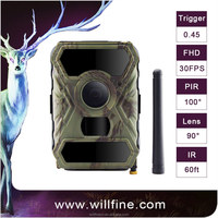 3G hunting camera with 100 degree wide lens 940nm IR LEDs support remote control for security and hunting