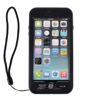 Waterproof Case Shockproof Dirtproof Stand Cover for Iphone 6 Plus 5.5 inch Black