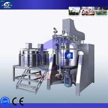 vacuum emulsifying mixer for paste/lotion/cream making machine with hydraulic lifting and tilting mixing machine