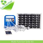 10 w 7Ah kit para promoção de natal Solar portátil multi-função 3WLED lâmpada * 2 função MP3 player FM 10 em 1 carregador móvel