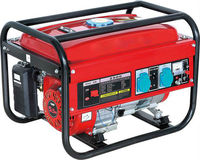 professional gas generator with black frame