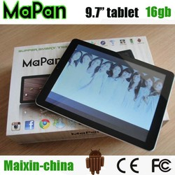 Chinese 9.7 inch tablet pc , MTK8382 1GB /16GB android tablet pc 3g phone