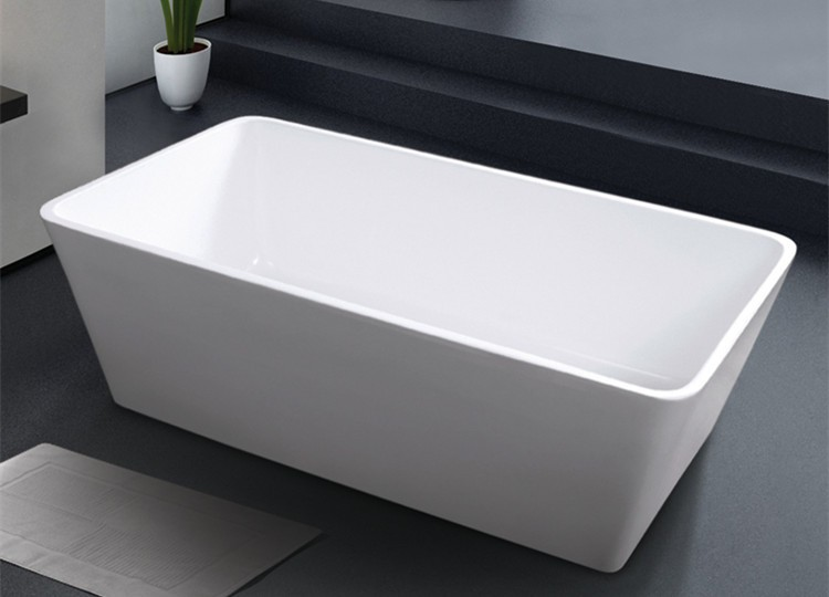 Hot Square Plastic Bath Tub In Free Standing Type For