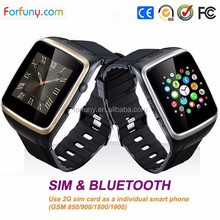 2g GSM MTK smart watch cellphone with GPS LBS wrist watch design