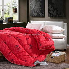 wholesalers china cheap bedroom sets silk fabric wedding duvet branded blanket with embroidery design