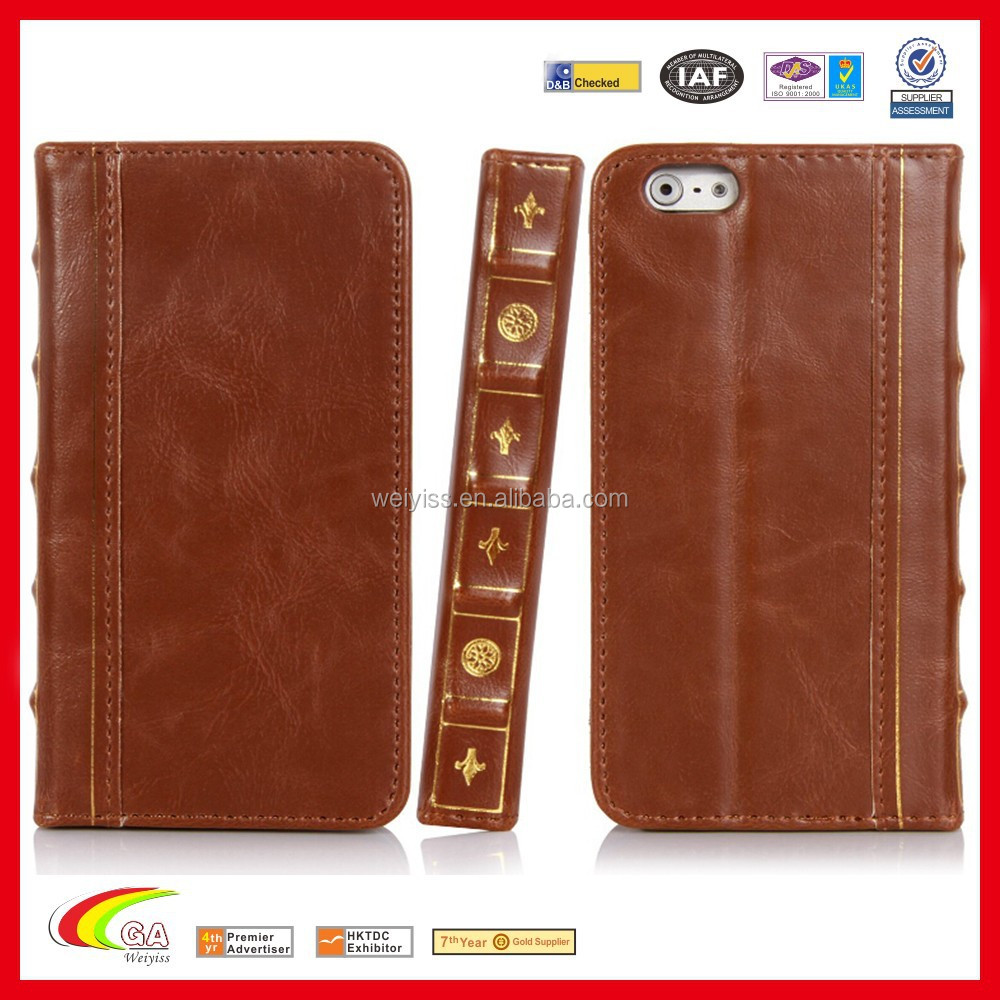Best Book Cover For Iphone : Best seller book style leather wallet flip slim case