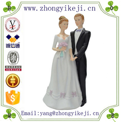 chinese factory custom made handmade carved marriage decorating of resin Bride and Groom Marriage Figurine