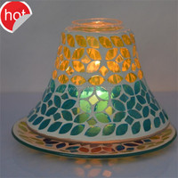 mosaic candle shade mirror mosaic candle holder sets blue or custom made colors