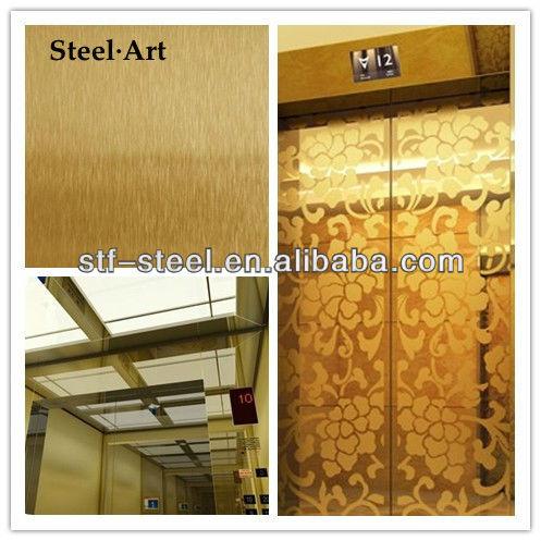 Ascensor cabañas y / o 304 hoja de acero inoxidable / piezas del elevador