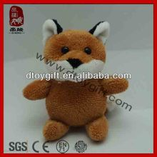 Promotion gifts stuffed plush wild animal keychain toy cute fox soft toy small fox keychains