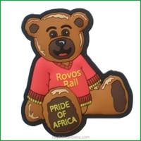 Soft pvc 3D souvenir fridge magnet / cheap cartoon bear magnet