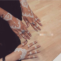 Sex product henna white temporary flash tattoos