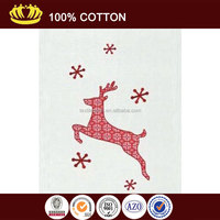 100% cotton XMAS DEER Decor Waffle Weave Kitchen Towel