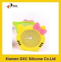 Kitty children silicone quartz alarm clock movement