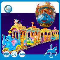 Funny outdoor amusement rides ! playground children mini train