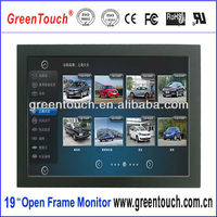 19 inch 4:3/16:10 open frame TFT LCD/LED monitor with hdmi