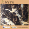 Afghanistan Black and Gold Marble Tile Lowest Price China Black Marble Kitchen Background