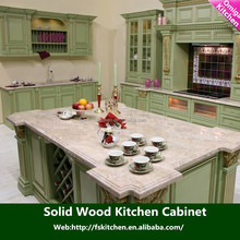 modern house plan high quality cheap price foshan modern style Solid wood kitchen cabinet for hotel or projects