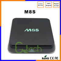 Online wholesale M8S Android smart TV box 2G/8G Dual Band Wifi Google 4.4 Amlogic S812 M8S TV box
