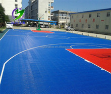 sports flooring Sports Equipment PP Interlocking Outdoor Flooring basketball interlocking plastic pp floor tiles factory price