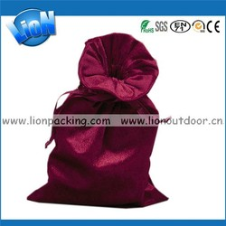 Factory Price Big Velvet Packing Pouch Drawstring