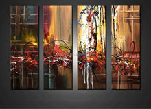 Handpainted large canvas art cheap