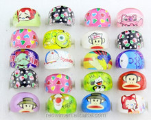 2015 Latest Design Hot Nice Acrylic Ring Colorful Children Bay Ring Nice Children Jewelry