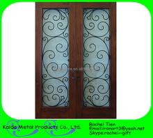 simple wrought iron door inserts girll decorative window door
