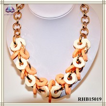 Hot sale african beads jewelry set fashion acrylic necklace for women