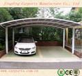 Al aire libre de aluminio doble marquesina marco/cocheras utilizado para la venta
