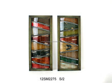 2012 Hot selling metal wall arts with frame for home decoration