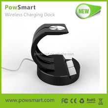 New design 2 in 1 charging stand for apple watch stand, for iphone 6 wireless charger