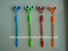 Mini Cheap New Cheap Plastic School Kids Eye Ball Pen for promotion