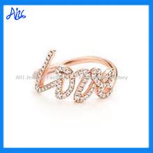 amor amor de plata anillo de moda