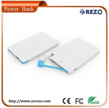 2014 portable mini power bank 2000mAh for gift, travel, entertainment,etc