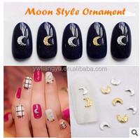 Metal Fashion Moon Design Artificial Nail Beauty Accessory