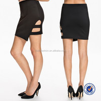 china wholesale fashionable cheap sexy black side stras tight mini pencil skirt