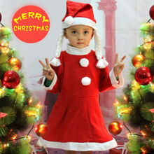 2015 new design cheap funny baby girl christmas clothes ,wearing in festival