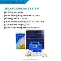 solar powered generator The cheapest small solar energy solar portable generator dc12v for African market