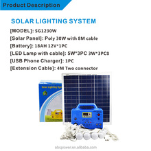 solar powered generator The cheapest small solar energy solar portable generator dc12v for African market