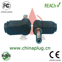 Enviromental Friendly Right Angled DC Out 2.8mm x 5.5mm - Inline Jack Pin- L Shaped Socket with 13.5mm Barrel
