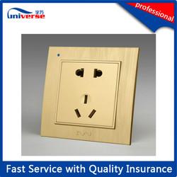 Manufacture golden Plastic 2 way socket